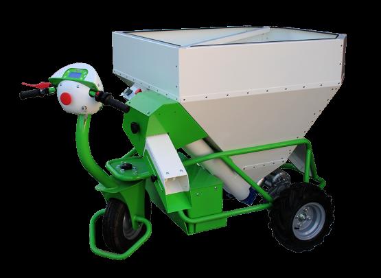 Distributeur électrique aliments bétail (brouette)